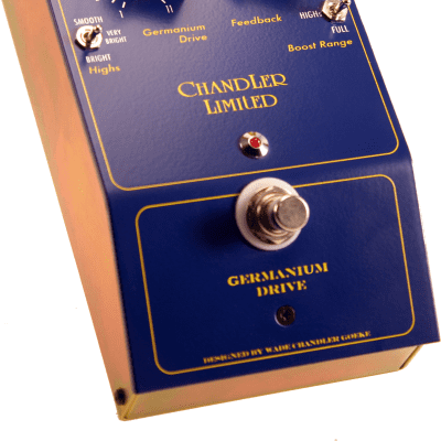 New Chandler Limited Germanium Drive - Drive Effect Guitar/Bass/Keyboard, NOTE POWER  REQUIREMENTS