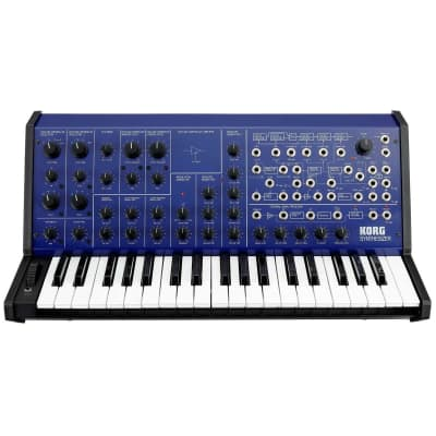 Korg MS-20 FS Monophonic Analog Synthesizer, 2 Oscillators, 37 Mini-Keys, Blue