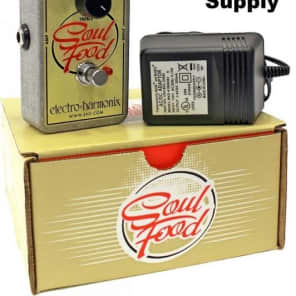 Electro Harmonix Soul Food Transparent Overdrive Distortion w/ Power Supply