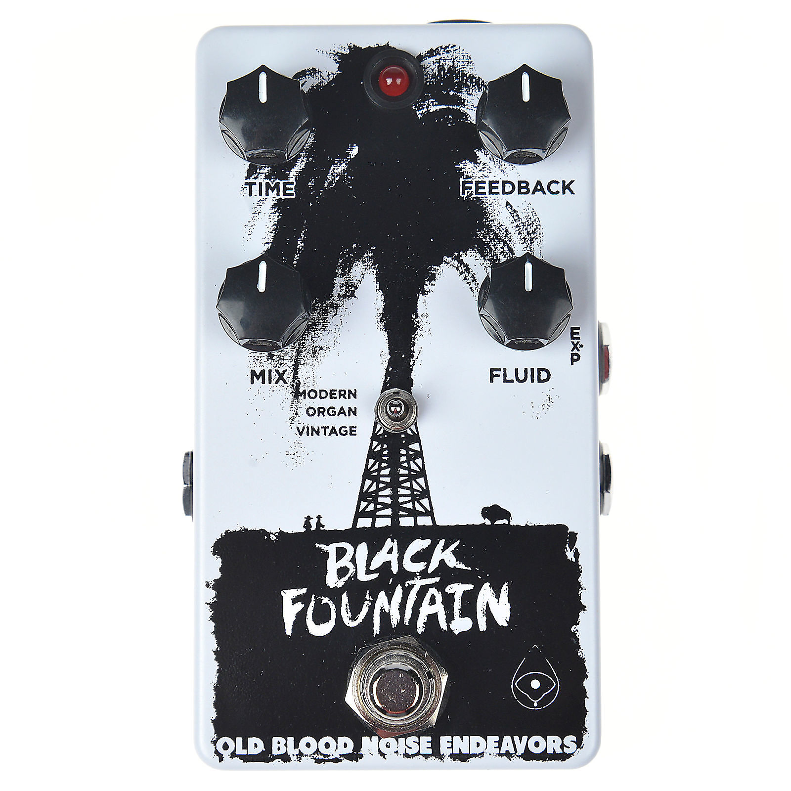 Old Blood Noise Black Fountain Delay CME Exclusive White and Black w/ Free  Mug (LTD of 15)