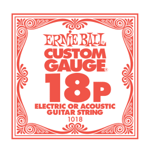 Ernie Ball Ernie Ball Plain Steel Single Guitar String .018 Gauge Pack of 6 strings PO1018 for sale