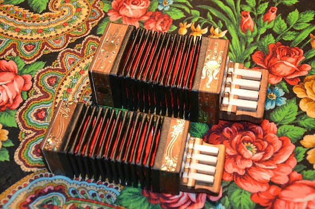 Custom Russian mini Harmonica, little Accordion
