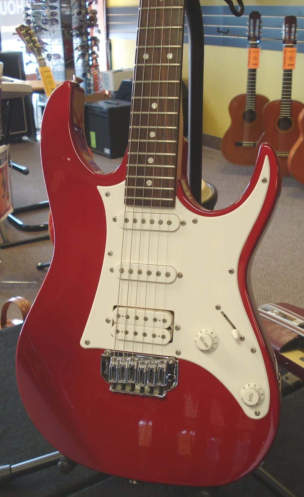 Generous Pit Bike Wiring Huge 2 Humbuckers In Series Clean One Humbucker One Volume Wiring Remote Start Alarm Installation Youthful 3 Pickup Guitar DarkWiring 1 2 3 Ibanez Gio HSS Candy Apple Red Electric Guitar | Reverb
