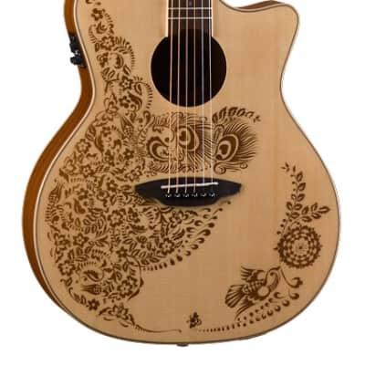 Luna Henna Oasis Spruce Acoustic-Electric Guitar