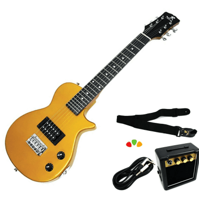 J Reynolds Mini Electric Guitar Prelude Starter Pack - Gold - JRPKLPGD for sale