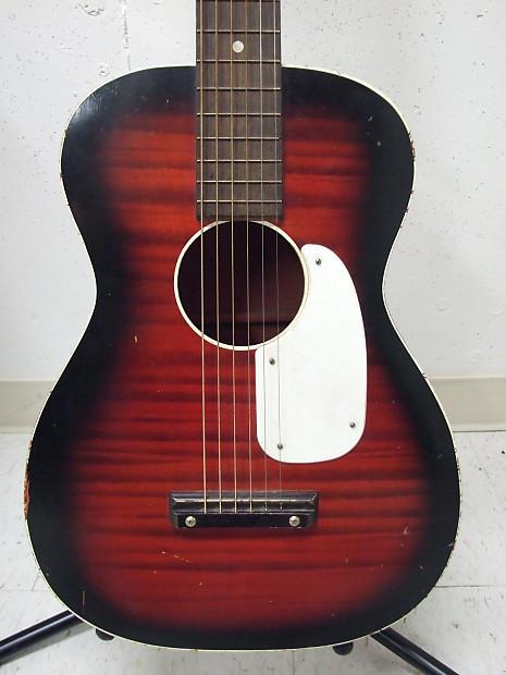 harmony stella acoustic guitar red black sunburst w reverb. Black Bedroom Furniture Sets. Home Design Ideas
