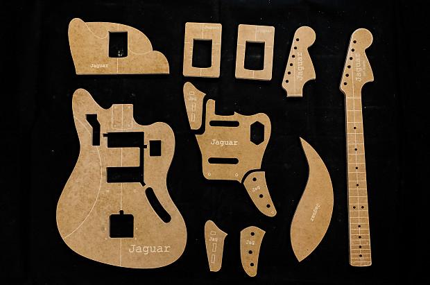 Guitar Templates Jaguar Poly Coated 12 Mdf Cnc Reverb