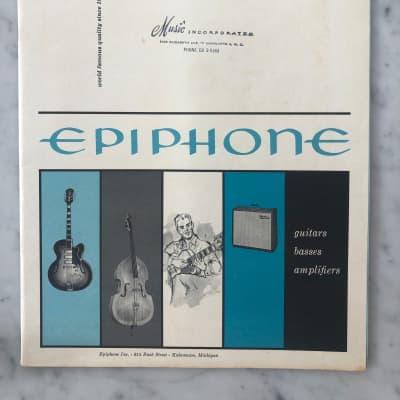 1961-1962 Epiphone Catalog Casino Wilshire Crestwood Sorento Case Candy Vintage