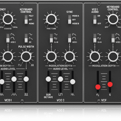 New Behringer CAT Synth Legendary Duophonic Analog Synthesizer with Dual VCOs, Eurorack Format