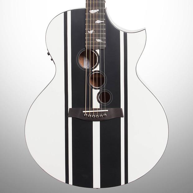 Useful Schecter Dj Ashba Signature Acoustic Electric Guitar Satin White Guitars & Basses