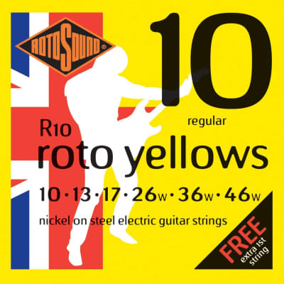 Rotosound R10 Roto Yellows Electric Guitar Strings - Light (10-46)