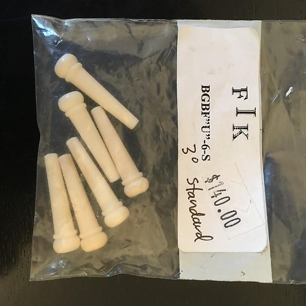 F I K Fossil Ivory bridge pins (6) New Old Stock 2010