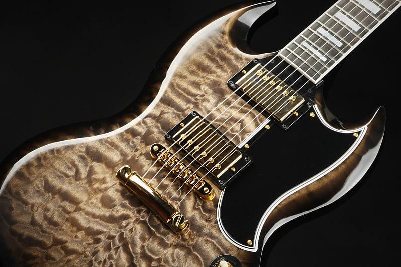 Gibson Custom Shop SG Custom 3A Quilt Cobra Burst