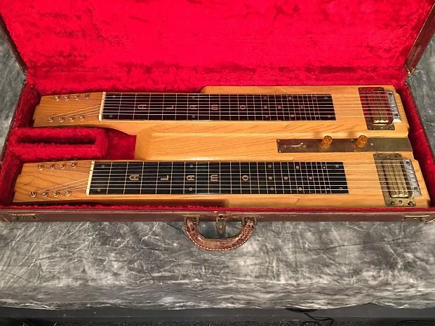 alamo double neck 8 string lap steel guitar 50 39 s natural reverb. Black Bedroom Furniture Sets. Home Design Ideas