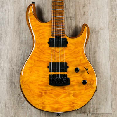 Ernie Ball Music Man Exclusive Run Luke III Guitar, Trans Gold, Japanese Maple, Roasted Flame Maple