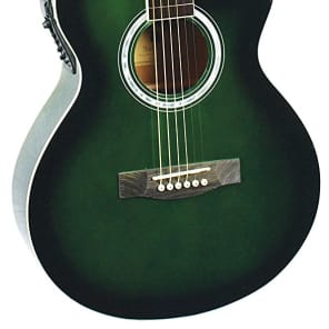 Indiana MAD-GR Madison Concert Cutaway Spruce Top 6-String Acoustic-Electric Guitar - Green for sale