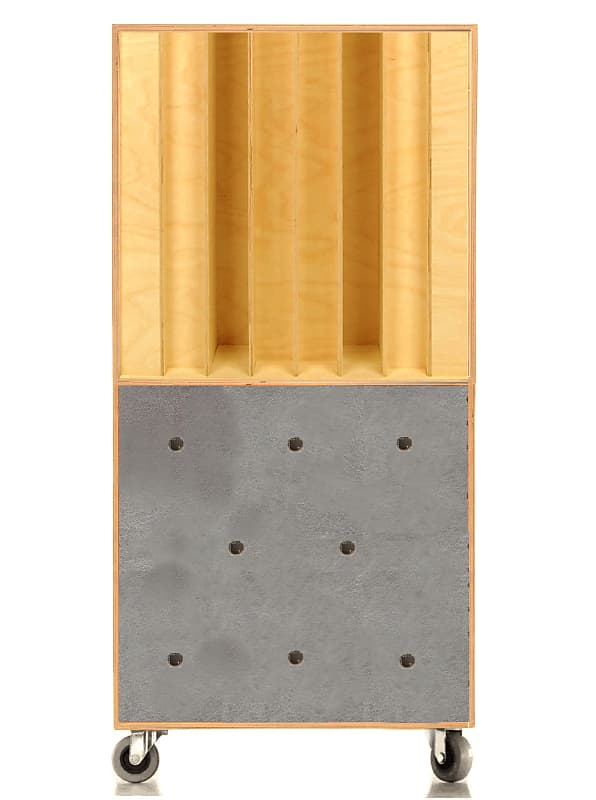 PRO QRD Bass Trap Acoustic Panel absorbent / reflective / scattering Wood +  Paint + Metal ( Wheels