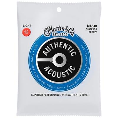 Martin MA540 SP Phosphor Bronze Authentic Acoustic Guitar Strings - Light (12-54)