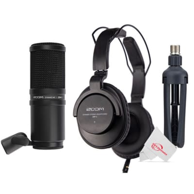 Zoom ZDM-1 Podcast Mic Pack Accessory Bundle With Microphone, Headphones, Tripod, Windscreen & Cable