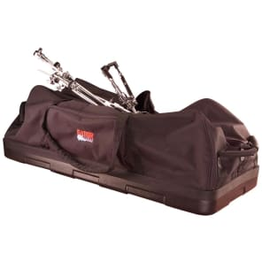 "Gator GP-HDWE-1436-PE Protechtor Molded Bottom Drum Hardware Bag - 14x36"" w/ Wheels"