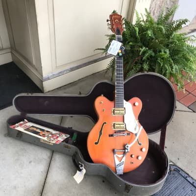 6120 Gretsch Chet Atkins Nashville  1969 orange  PLEK'D , Serviced w/ case