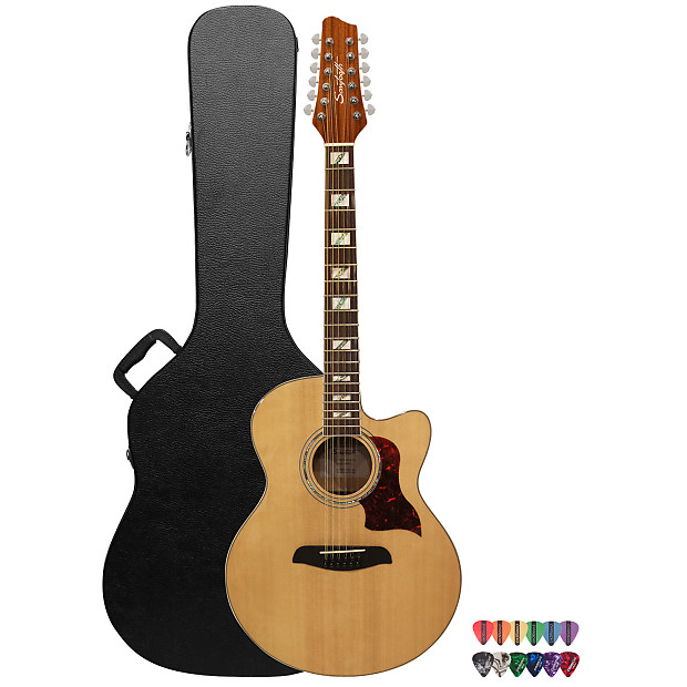 ccfb0cd66a Sawtooth Solid Spruce Top Jumbo Cutaway 12 String Acoustic | Reverb