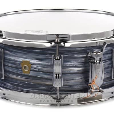 Ludwig Legacy Mahogany Jazz Fest Snare Drum 14x5.5 Vintage Blue Oyster