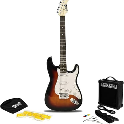 RockJam 6 String Electric Guitar Pack + Amplifier for sale