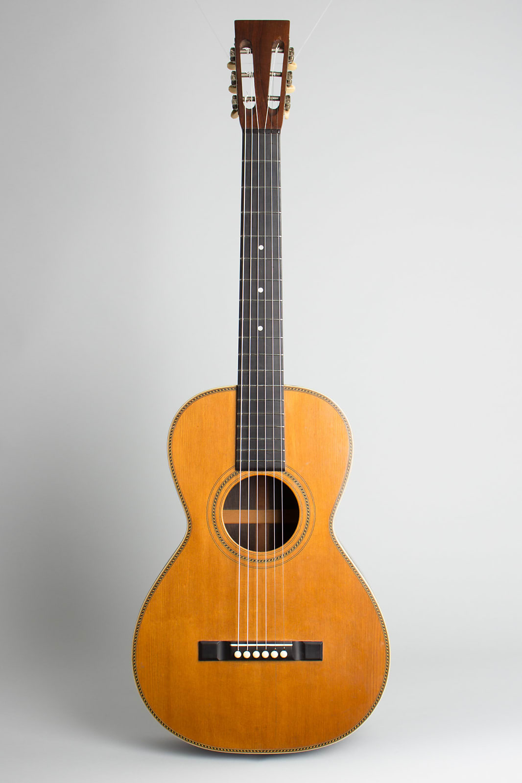 Weymann  High Grade Flat Top Acoustic Guitar,  c. 1908, ser. #8003, black tolex hard shell case.