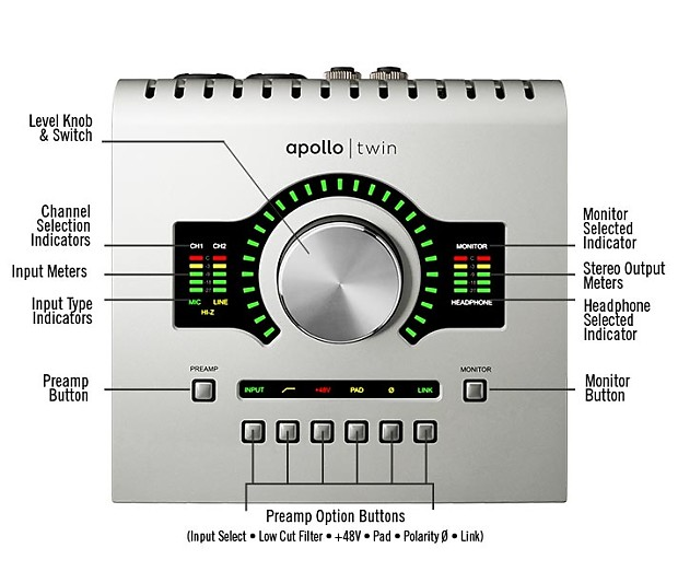 universal audio apollo twin usb duo manufacturer reverb. Black Bedroom Furniture Sets. Home Design Ideas