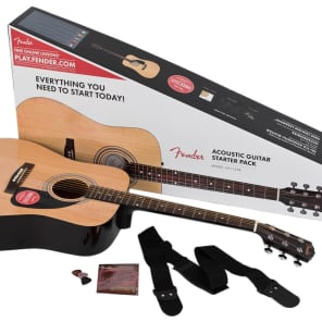 Fender Fender FA-115 Dreadnought Acoustic Guitar Natural Pack Natural for sale
