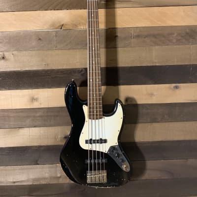 Real Life Relics Squier Affinity 5 String Jazz Bass Black Cherry Pearl Metallic Refinish Nitro Lacq