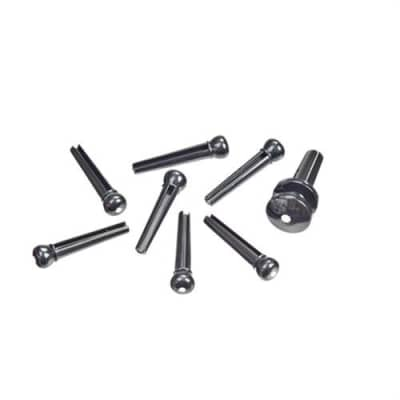 Planet Waves PW-PS10 Plastic Bridge and End Pins (Ebony with Ivory Dot)