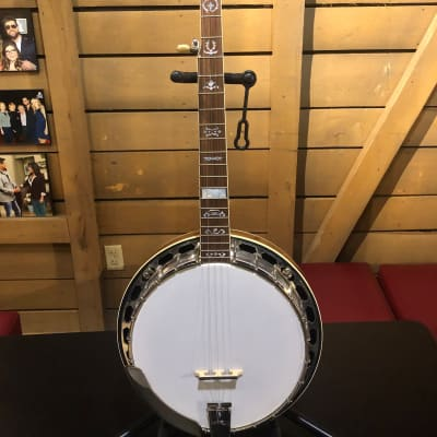 Gold Star GF-100W Banjo with Case for sale