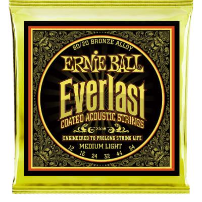 Ernie Ball Everlast Coated 80/20 Bronze Medium Light Acoustic Guitar Strings