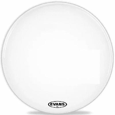 "Evans BD20MX2W MX2 White Marching Bass Drum Head - 20"""