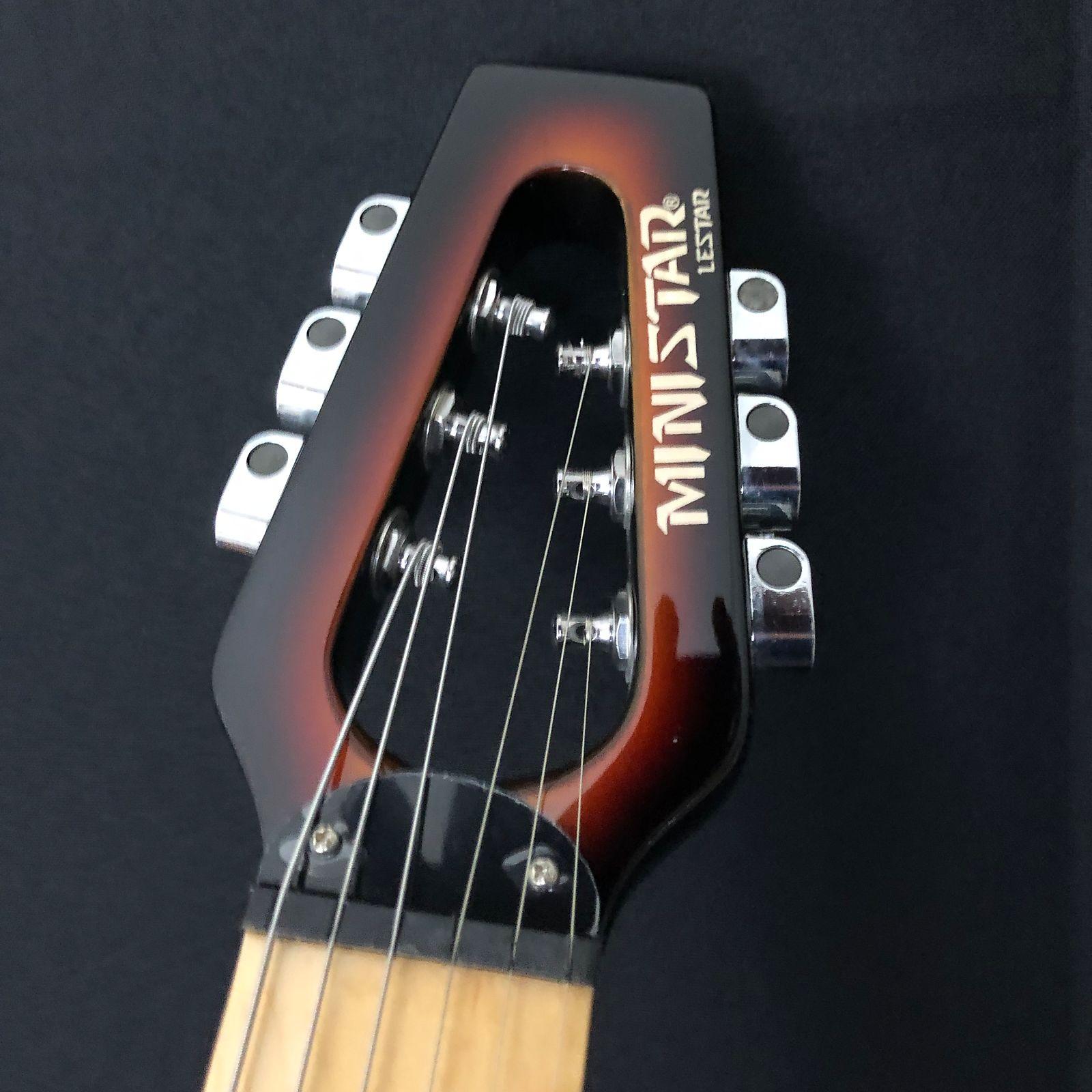 Original South Korean Ministar Lestar Travel  Guitar Built in Headset Amp Gibson Scale
