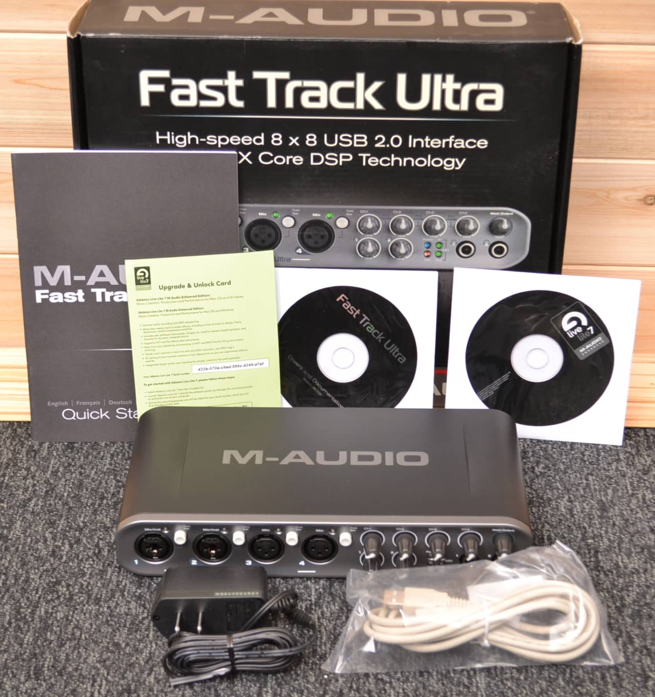 m audio fast track ultra usb recording interface in original reverb. Black Bedroom Furniture Sets. Home Design Ideas
