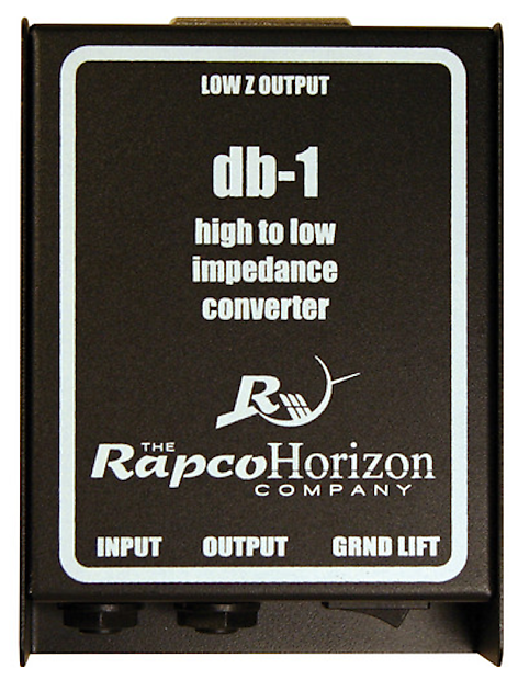 RapcoHorizon db-1 Passive DI Direct Injection Box | Reverb