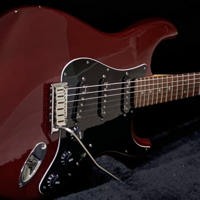 Fender American Deluxe Stratocaster Ash with Rosewood Fretboard - Wine Transparent for sale