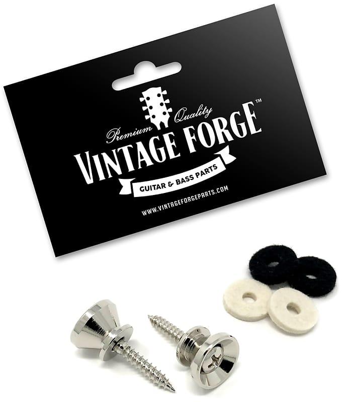 Nickel Strap Buttons w Screws FENDER® Style