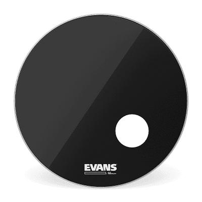 """Evans BD18RB EQ3 Resonant Black Bass Drum Head - 18"""""""