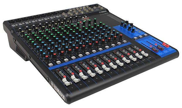 Yamaha mg16 12 channel mixer w 10 mic pre 39 s 4 aux reverb for Yamaha 16 channel mixer mg16 4