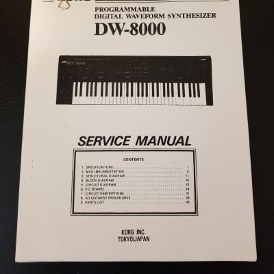 Korg DW-8000 Synthesizer Service Manual 1986 Japan