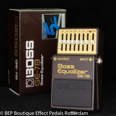 Boss GE-7B Bass Equalizer 1988 Japan s/n 936735