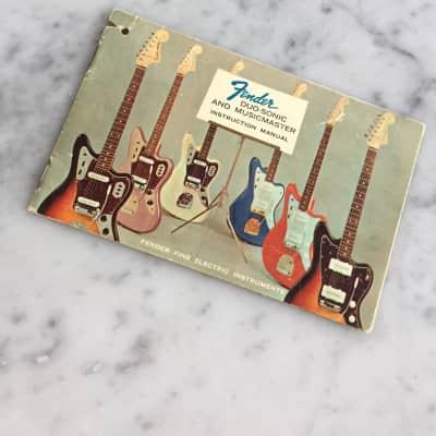 Circa 1964 Fender Duo Sonic And Musicmaster Hang Tag Instructions Manual