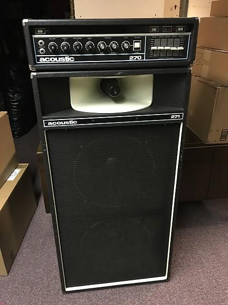 vintage 1972 acoustic 270 guitar bass amp amplifier 271 reverb. Black Bedroom Furniture Sets. Home Design Ideas
