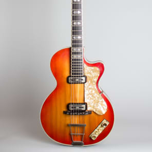 Hofner  Club 60 Arch Top Hollow Body Electric Guitar (1960), ser. #906, original tweed hard shell case. for sale