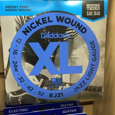D'Addario EJ21 XL Nickel Wound Electric Guitar Strings, Jazz Light Gauge Standard