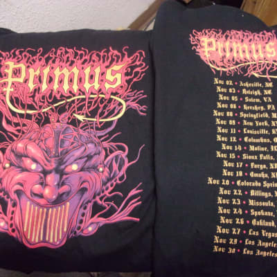 One Primus Concert Black T  Shirt brand new  Choose adult Women's Small OR Large OR Men's 2XL